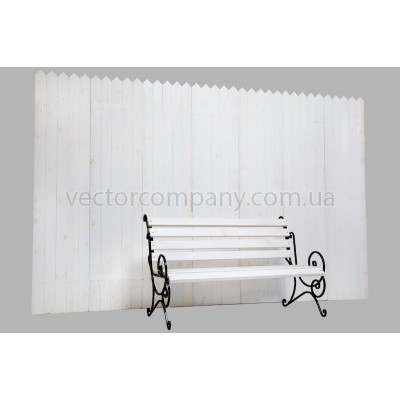 Белый забор + лавка