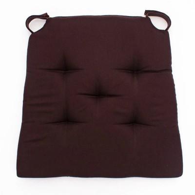 Коричневая подушка на стул