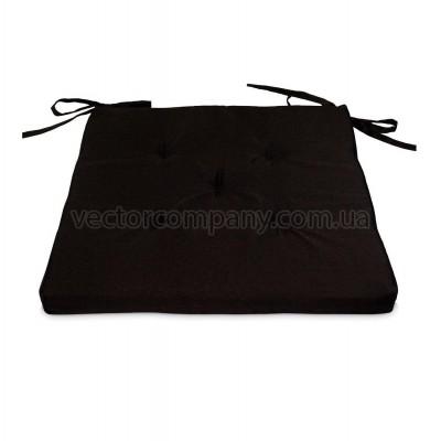 Черная подушка на стул