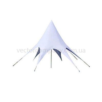 """Белый шатер """"Звезда"""" d10"""