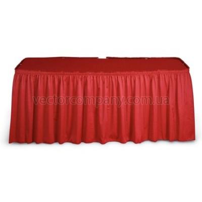 Красная юбка на стол (600х75)