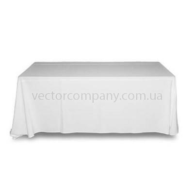 Белая прямоугольная скатерть (150x250)