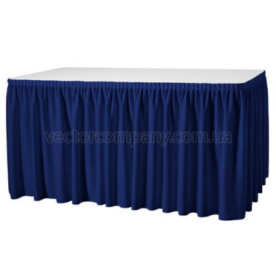 Синяя юбка на стол (600х75)