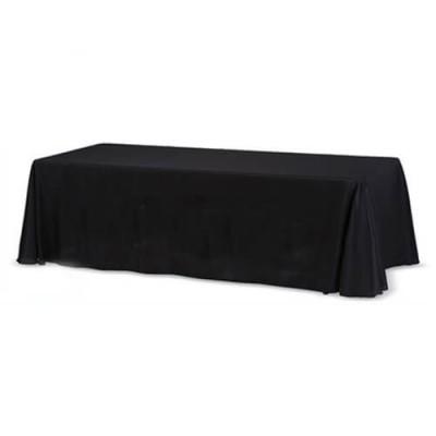 Черная прямоугольная скатерть (150x250)