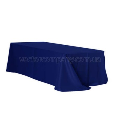Синяя прямоугольная скатерть (150x250)