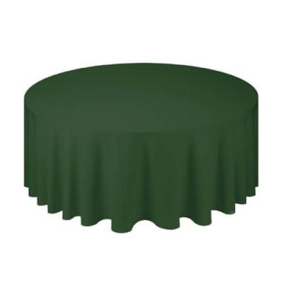 Зеленая круглая скатерть (d330)