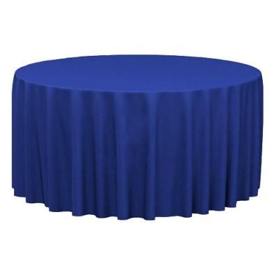 Синяя круглая скатерть (d330)