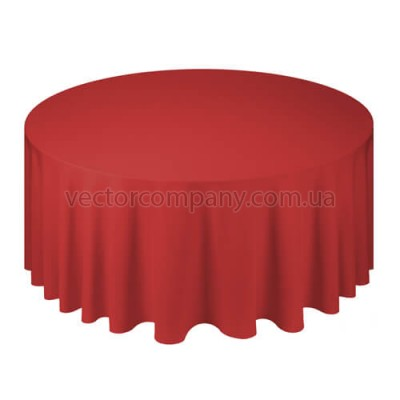 Красная круглая скатерть (d330)