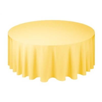Желтая круглая скатерть (d330)