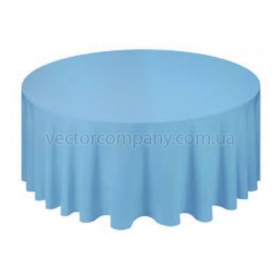 Голубая круглая скатерть (d330)