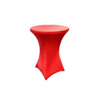 Чехол на барный стол красный