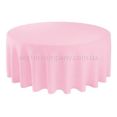 Розовая круглая скатерть (d330)