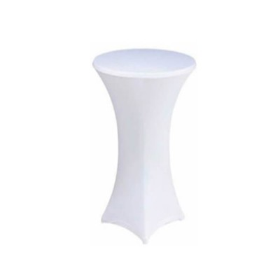 Чехол на барный стол белый