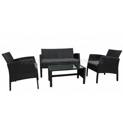 Ротанговый комплект Color black (черный)