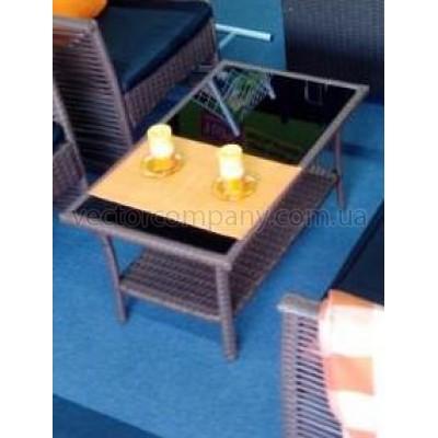 Ротанговый столик Color brown