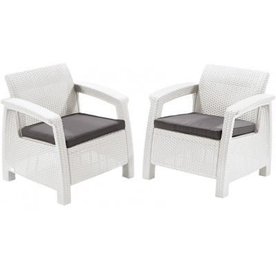 Ротанговое кресло Color white