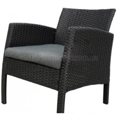 Ротанговое кресло Color black