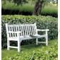 Скамья садовая белая
