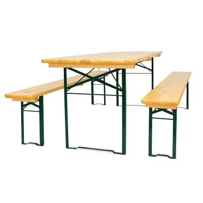Комплект Рейка (стол и 2 лавочки)