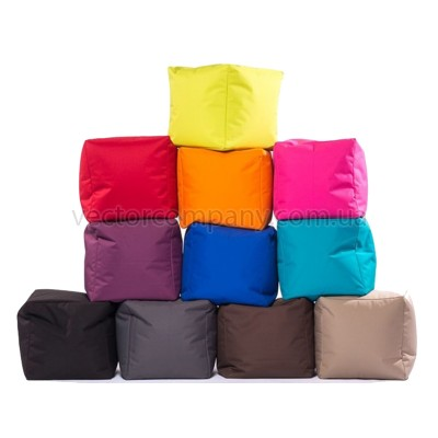 Пуфы кубики разноцветные