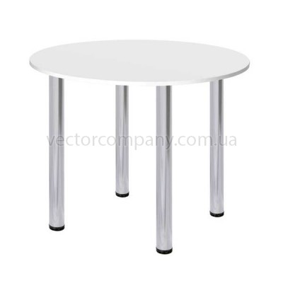 Стол круглый d90 белый