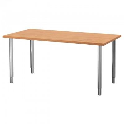 Стол прямоугольный на хромированных ножках 130x70